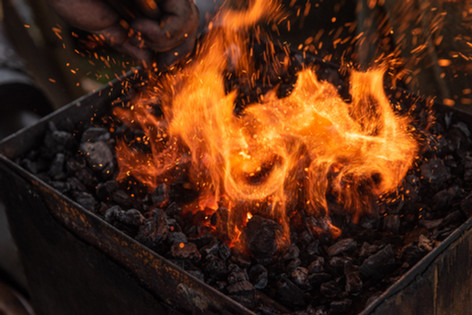 Charcoal fueled forge