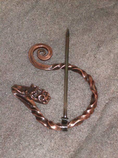 Viking cloak pin