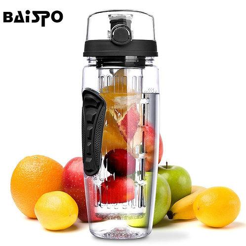 BAISPO 32oz 900ml BPA Free Fruit Infuser Juice Shaker Sports