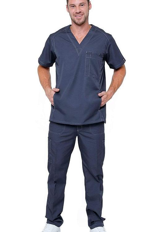 Men's Multi Pocket Utility Medical Scrubs (102AV)