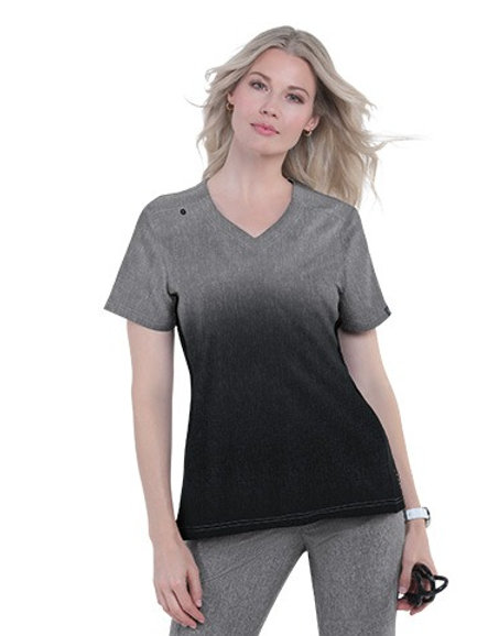 Cali Top Heather Charcoal Black Ombre