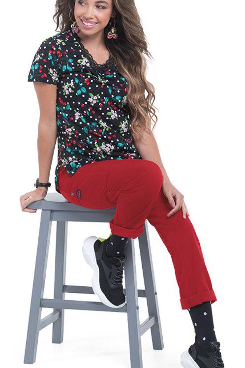 Camila Cherry Bomb Scrub Top
