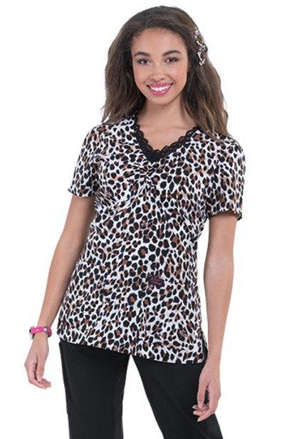 Camila Leopard Scrub Top