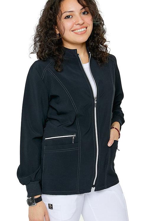 Women's Stretch Zipper Warm Up Uniform Jacket