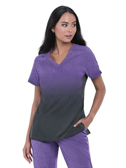 Cali Top Heather Wisteria Charcoal Ombre