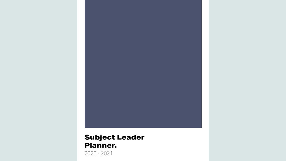Simplicity Subject Leader Planner 2020-2021
