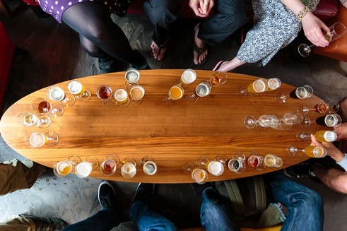 Beer tasting in zerodegrees