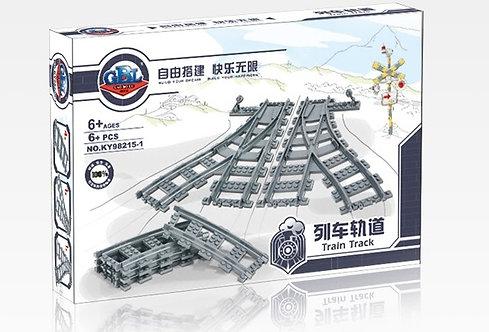 Коробка KAZI Train Набор рельс: железнодорожные стрелки | 7895 | IQREPLICA