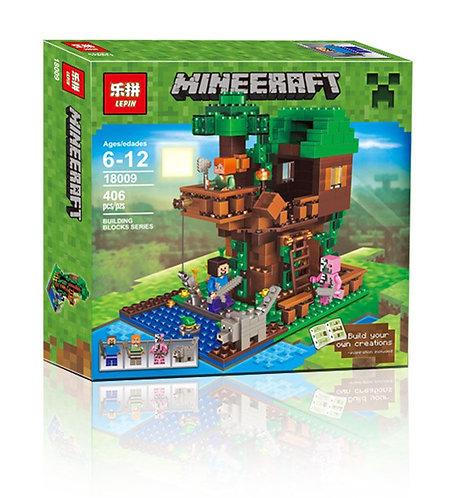 Коробка аналог Lego Minecraft Домик на дереве у реки | LEGOREPLICA
