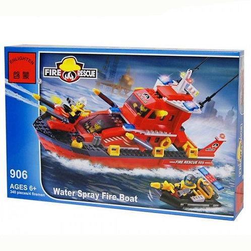 Коробка BRICK Fire Rescue Большой пожарный катер на воздушной подушке | IQREPLICA