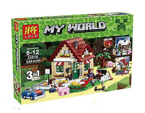 Коробка аналог Lego Minecraft Времена года 3 в 1 | LEGOREPLICA