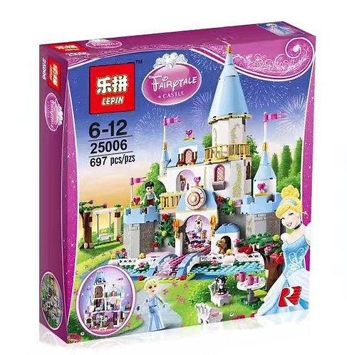 Коробка аналог Lego Disney Золушка на балу в королевском замке | 41055 | LEGOREPLICA