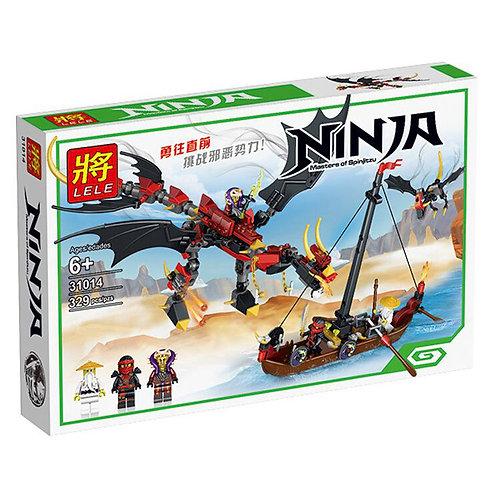 Коробка LELE Ninjago Нападение злого дракона | IQREPLICA