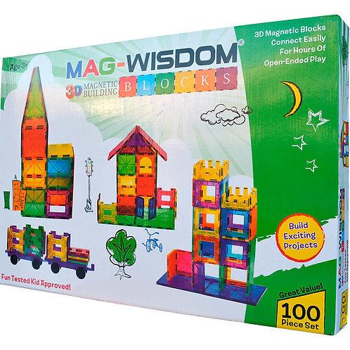 Магнитный конструктор Mag Wisdom 3D Blocks 100 деталей