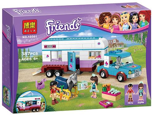 Коробка аналог Lego Friends Ветеринарная машина для лошадок | 41125 | LEGOREPLICA
