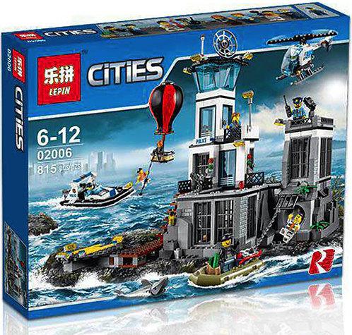 Коробка аналог Lego City Остров-тюрьма | 60130 | LEGOREPLICA