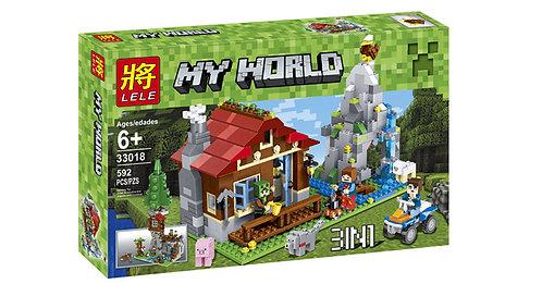 Коробка аналог Lego Minecraft Хижина в горах 3 в 1 | LEGOREPLICA