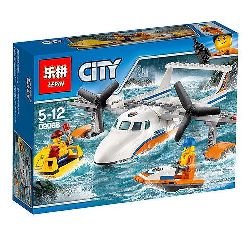 Конструктор LEPIN Спасательный самолет береговой охраны   60164