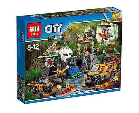 Коробка LEPIN City Series База исследователей джунглей | 60161 | IQREPLICA