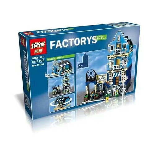 Коробка аналог Lego Creator Торговая улица | 10190 | LEGOREPLICA