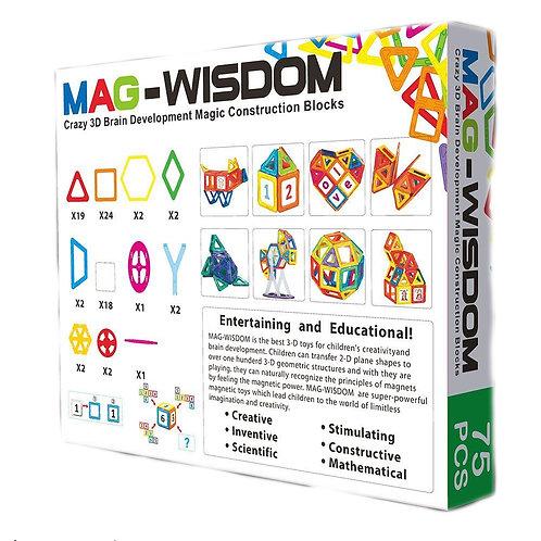 Магнитный конструктор Mag Wisdom Carnaval Set 75 деталей