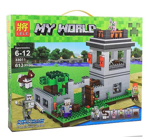 Коробка аналог Lego Minecraft Крепость с големом | LEGOREPLICA