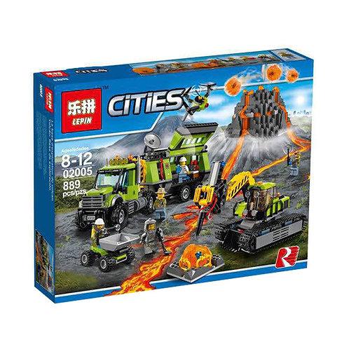Коробка аналог Lego City База исследователей вулканов | 60124 | LEGOREPLICA