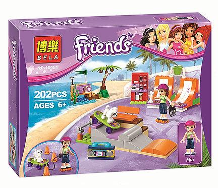Коробка аналог Lego Friends Скейт-парк | 41099 | LEGOREPLICA