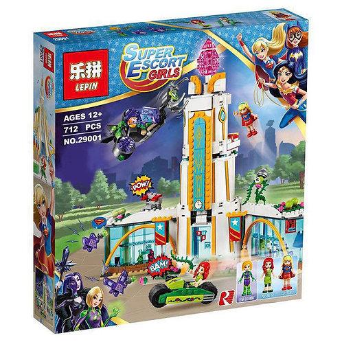 Коробка аналог Lego Super Hero Girls Школа супергероев | 41232 | LEGOREPLICA