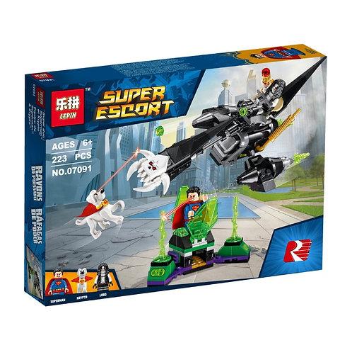 Конструктор LEPIN Супермен и Крипто объединяют усилия   76096