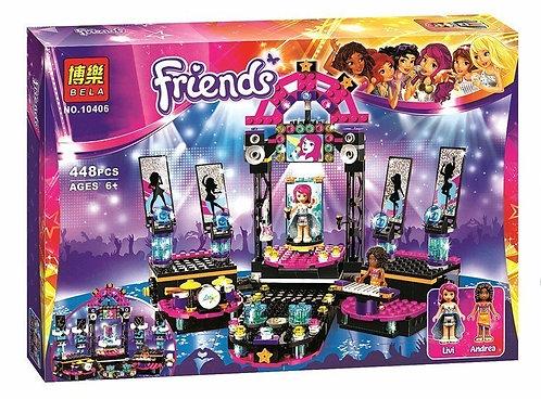 Коробка аналог Lego Friends Поп звезда: сцена | 41105 | LEGOREPLICA