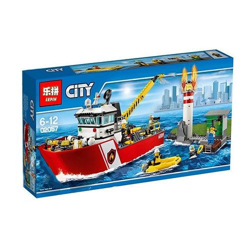 Коробка LEPIN Пожарный катер | 60109 | IQREPLICA