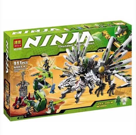 Коробка аналог Lego Ninjago Последняя Битва Драконов | 9450 | LEGOREPLICA