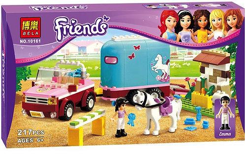 Коробка аналог Lego Friends Трейлер для лошади Эммы | 3186 | LEGOREPLICA