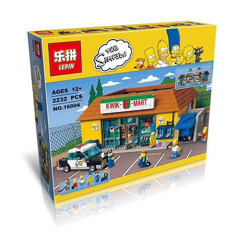 Коробка аналог Lego Simpsons Магазин «На скорую руку» | 71016 | LEGOREPLICA