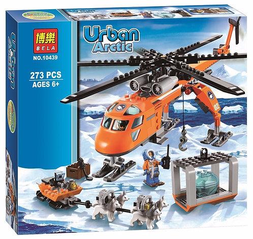 Коробка аналог Lego City Арктический вертолёт   60034   LEGOREPLICA