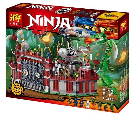 Коробка LELE Ninjago Осада крепости Ву | IQREPLICA