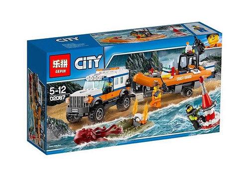 Коробка LEPIN City Внедорожник 4х4 команды быстрого реагирования | 60165 | IQREPLICA