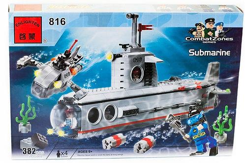 Коробка BRICK Combat Zone Подводная лодка   IQREPLICA