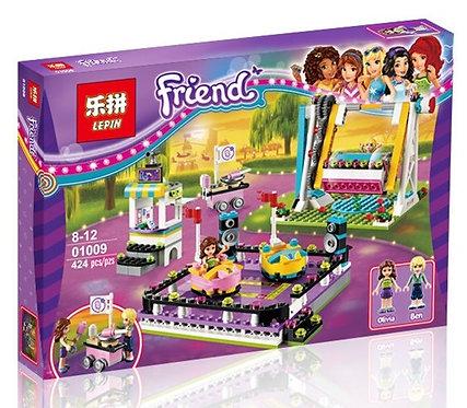 Коробка аналог Lego Friends Парк Развлечений: Аттракцион Автодром | 41133 | LEGOREPLICA