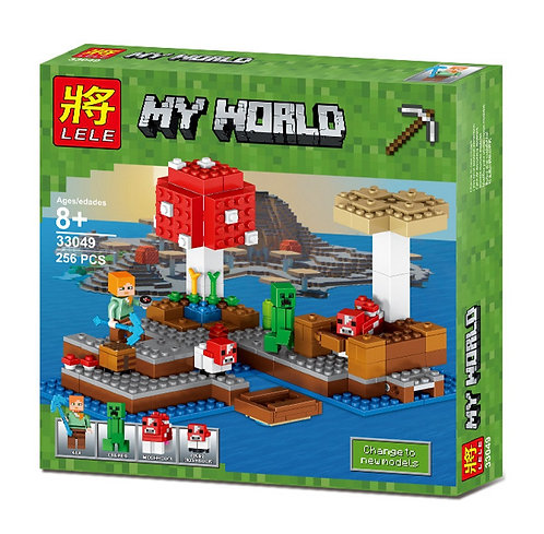 Коробка LELE Minecraft Грибной остров   21129   IQREPLICA