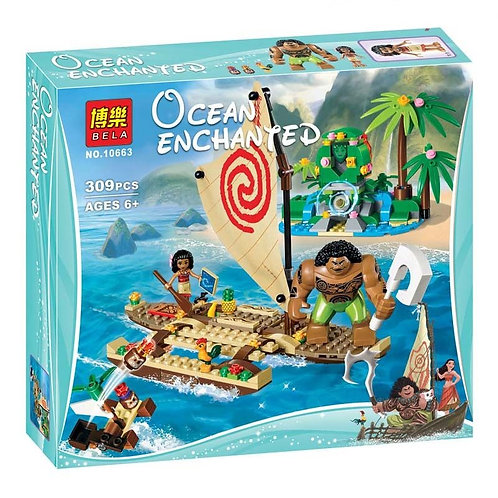 Конструктор BELA Disney Путешествие Моаны через океан   41150