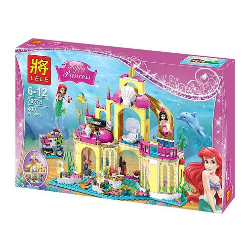 Коробка аналог Lego Disney Подводный дворец Ариэль | 41063 | LEGOREPLICA