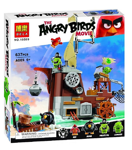 Коробка аналог Lego Angry Birds Пиратский корабль свинок | 75825 | LEGOREPLICA