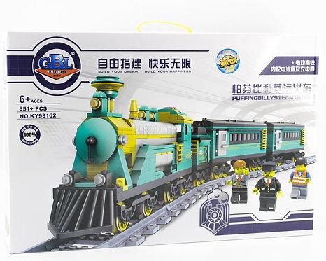 Коробка аналог Lego Train Series Паровой поезд «Пыхтящий Билли» | LEGOREPLICA