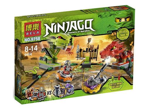 Коробка аналог Lego Ninjago Сражение со Змеей | 9456 | LEGOREPLICA