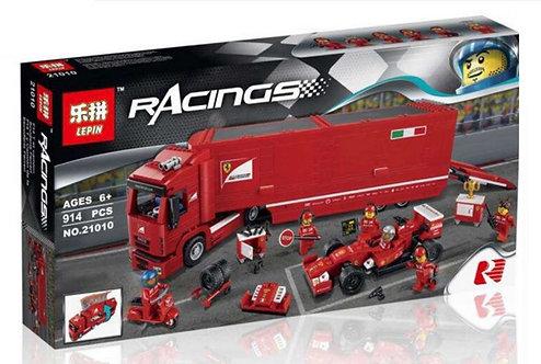 Коробка LEPIN Racers Феррари F14 и грузовик Skuderia | 75913 | IQREPLICA