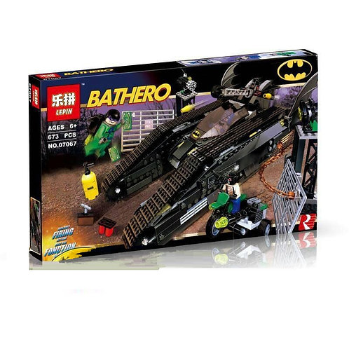 Коробка LEPIN Super Heroes Series Бэттанк: Ридлер и Убежище Бэйна | 7787 | IQREPLICA