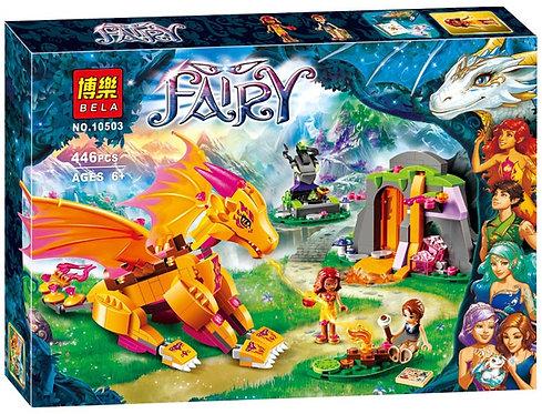 Коробка аналог Lego Elves Лавовая пещера дракона огня | 41175 | LEGOREPLICA