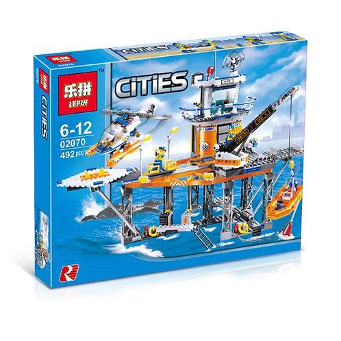 Коробка LEPIN City Series Платформа береговой охраны   4210   IQREPLICA